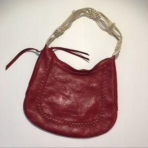 Kenneth Cole Red Leather Shoulder Bag Excellent